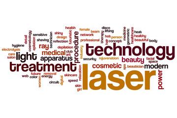 Laser word cloud