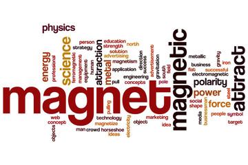 Magnet word cloud