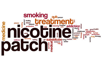 Nicotine patch word cloud