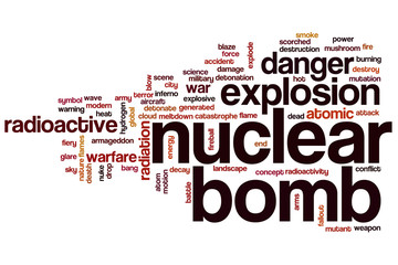 Nuclear bomb word cloud