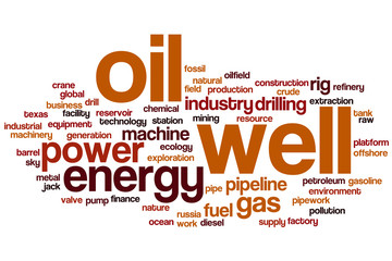 Oil well word cloud