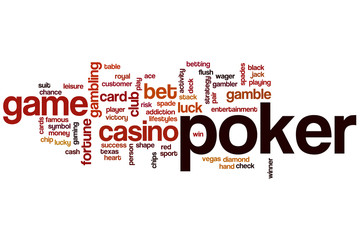 Poker word cloud