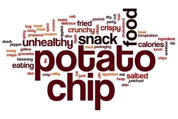 Potato chip word cloud