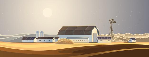 Ranch. Rural landscape