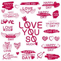 Decorative texts for love confession.