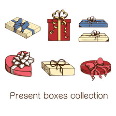 Present boxes collection.