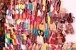 Leinwanddruck Bild - Souk - Schuhverkauf in Marokko