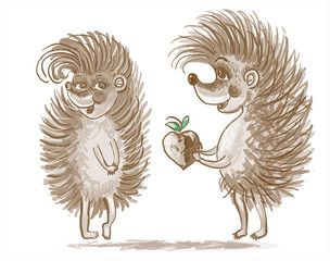 Couple of hedgehogs.