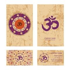 Set of business cards for yoga or meditation studio