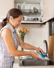housewife  washing kitchenware