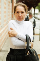 Frustrated mature woman