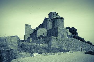 Vintage photo of Castle of Cardona
