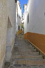 Street in Ohanes, small village in Almeria, Spain