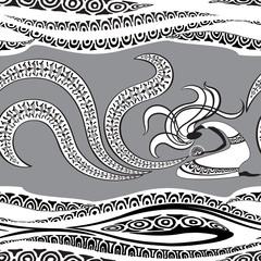Sorceress. Seamless pattern.