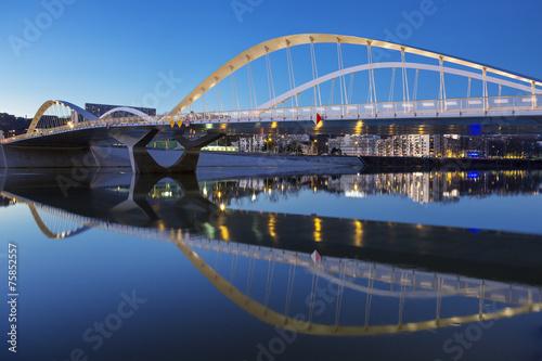 Papiers peints Pont View of Schuman bridge by night