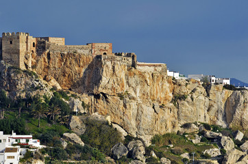 The castle in the Spanish town of Salobrena, Andalusia