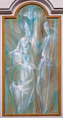 Rome - Baptism of Jesus modern fresco