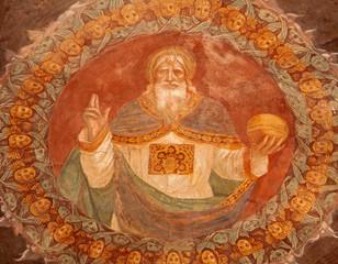 Bergamo - God the Creator fresco form church Michele