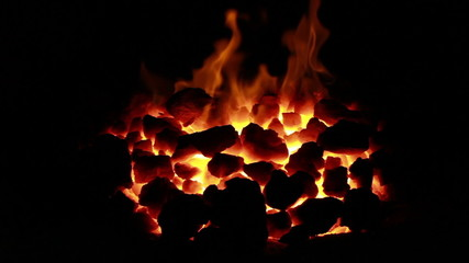 ignition of coal in the furnace