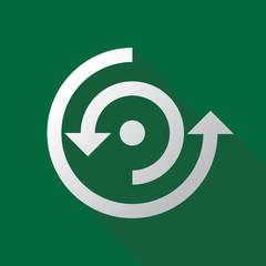 arrow circle rotate icon logo vector