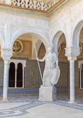 Seville - statue of Athena in Casa de Pilatos .