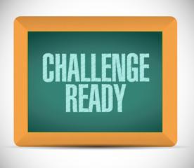 challenge ready board sign illustration