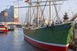 Leinwandbild Motiv Altes Segelschiff im Hafen von Hamburg