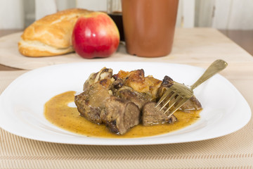 liver baked with apples