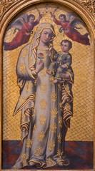 Seville - Madonna paint  in baroque Church of El Salvador