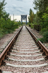 railway track near Chernobyl Zone of Alienation, Ukraine