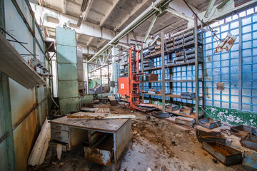 Jupiter Factory in Pripya cityt, Chernobyl Zone, Ukraine