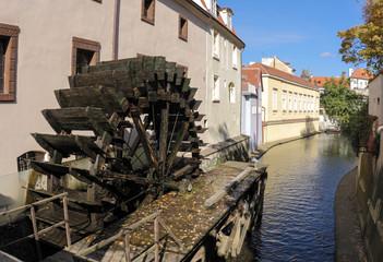 Watermill at Certovka river, Prague, Czech Republic