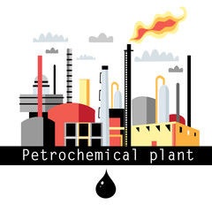 illustration petrochemical plant