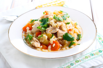 Chicken breast and vegetable casserole