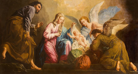 Vienna - Nativity paint in presbytery of Salesianerkirche