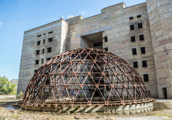 one of the unfinished buildings of hospital in Kiev, Ukraine