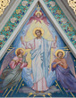 Vienna - The mosaic of Jesu Christ with the angels