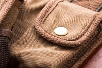 Detail of bag pocket