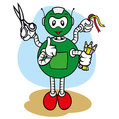 Mascot robot, under general services and office