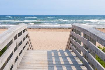 Entrance to Atlantic ocean beach