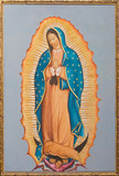 Brussels - paint of Virgin Mary of Guadalupe