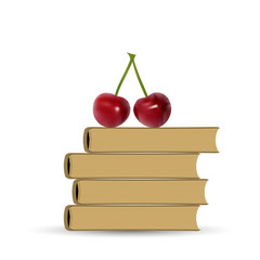 Stack of Book and Cherry