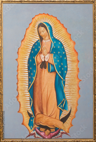 Brussels - paint of Virgin Mary of Guadalupe - 75857732