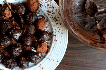 Several Truffles on a Plate