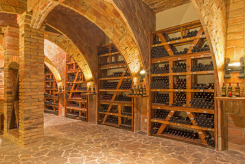 Indoor of wine cellar of great Slovak producer