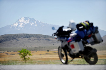 Adventure motorcycle travel in Turkey