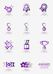 Award icon set, Logo collection