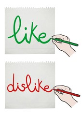 Like and dislike card