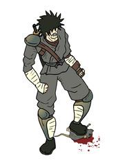 Samurai footle rat