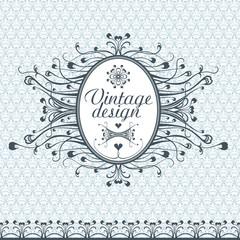 Frame decoration.  Vignette. Vintage design.